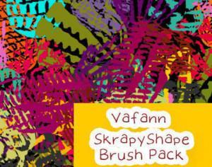 Vafann Handmade Skrapy Shape Brush Pack Photoshop brush