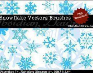 Snowflake Vector Brushes for Photoshop Photoshop brush