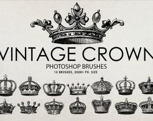 Free Vintage Crown Photoshop Brushes Photoshop brush