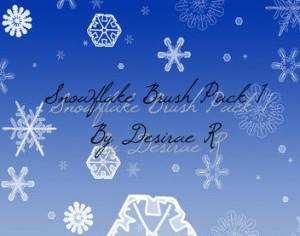 Snowflake Brush Pack 1 Photoshop brush