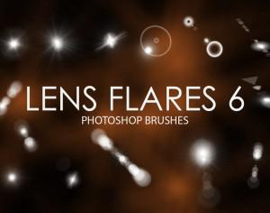 Free Lens Flare Photoshop Brushes 6 Photoshop brush