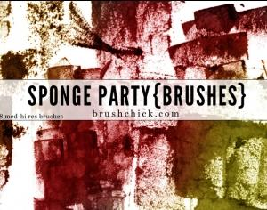 Sponge Party Photoshop brush