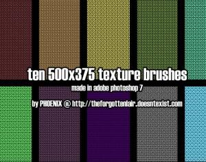 10 Texture + Pattern Brush Photoshop brush