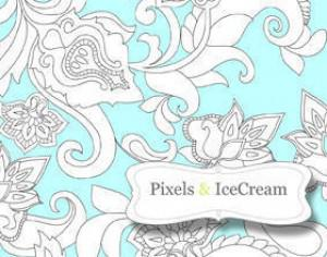Pixels & IceCream FlowersFirst Photoshop brush