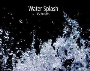 20 Water Splash Brushes.abr Vol.1 Photoshop brush