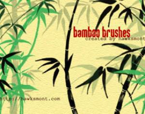 Bamboo Brushes by hawksmont Photoshop brush