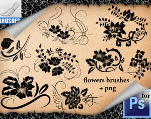 Ornamental Flowers Brushes Photoshop brush