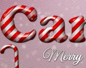 Candy Cane Style Photoshop brush