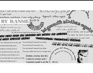 The Smiths Lyrics Photoshop brush