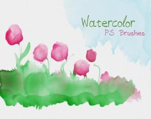 20 Watercolor Mask PS Brushes abr.Vol.9 Photoshop brush