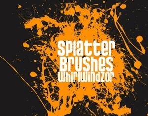 Splatter Brushes Photoshop brush