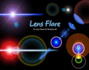 20 Lens Flares PS Brushes abr vol.10 Photoshop brush