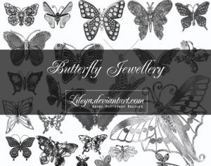 Butterfly Jewelry Photoshop brush