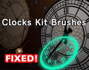 Clocks Kit Brushes Photoshop brush