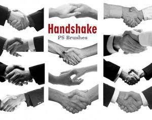 20 Handshake PS Brushes abr Vol.3 Photoshop brush