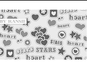 Hearts and Stars Photoshop brush