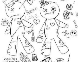Build your own Voodoo Doll Brushes Photoshop brush