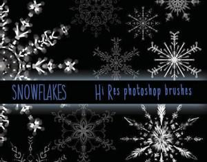 Hi Res Snowflake Brushes Photoshop brush