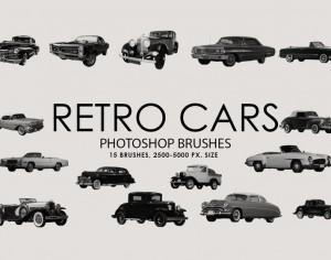 Free Retro Cars Photoshop Brushes Photoshop brush