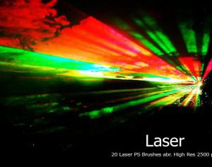 20 Laser PS Brushes abr. vol.1 Photoshop brush