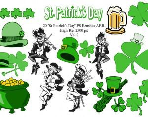 "20 ""St Patricks Day"" PS Brushes abr. Vol.2 Photoshop brush"