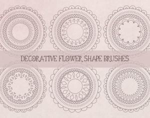 Decorative Abstract Flower Shape Brushes Photoshop brush