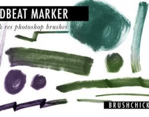 "Free Photoshop Marker Brushes #24 – ""Deadbeat Marker"" Photoshop brush"