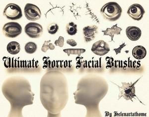 Ultimate Horror Facial Brushes Photoshop brush