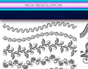 10 Lace Bruushes Photoshop brush