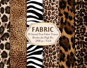 20 Animal Print Fabric Brushes.abr Vol.8 Photoshop brush