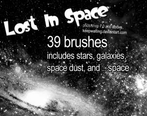 Lost In Space Brushes Photoshop brush
