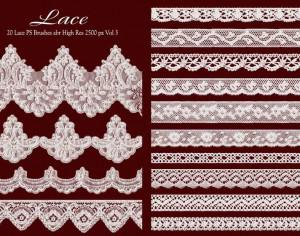 Lace PS Brushes abr vol 3 Photoshop brush