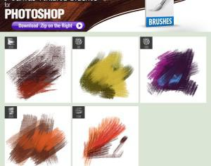Canvas Textured PS Brushes Photoshop brush