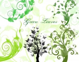 Green Leaves and Trees Photoshop brush