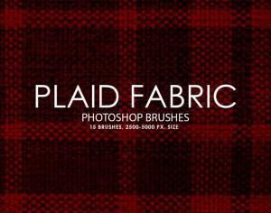 Free Plaid Fabric Photoshop Brushes Photoshop brush