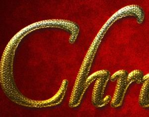 Gold Christmas layer style Photoshop brush