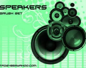 Speakers Photoshop brush