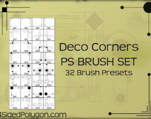 Deco Corners Photoshop brush