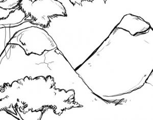 Scenery Scrawl  Photoshop brush