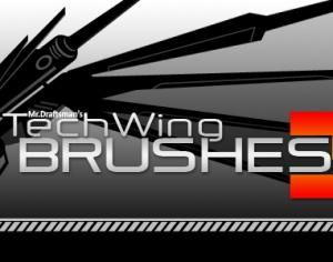 Tech Wing Brushes 3 Photoshop brush