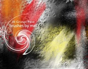 Grunge Paint brushes Photoshop brush