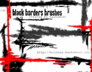 Black Borders Photoshop brush