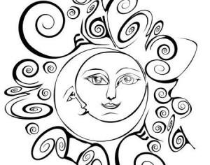 Sun and Moon Brush Photoshop brush