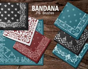 20 Bandana PS Brushes.abr vol.4 Photoshop brush