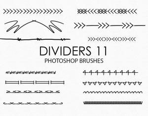 Free Hand Drawn Dividers Photoshop Brushes 11 Photoshop brush