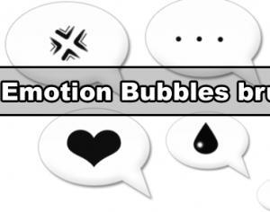 Emotion bubbles brush Photoshop brush
