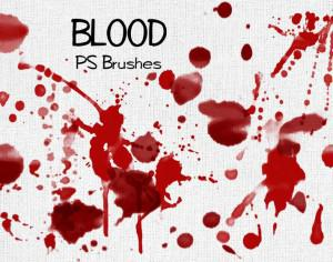 20 Blood Splatter PS Brushes abr vol.3 Photoshop brush