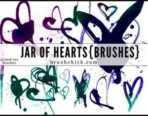 Jar of Hearts Brush Pack Photoshop brush