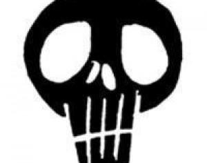 Grunge Black Skull Brush Photoshop brush