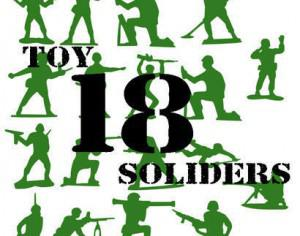 18 Toy Soldier Brushes Photoshop brush